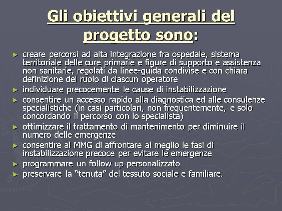 Gli obiettivi generali del progetto sono: