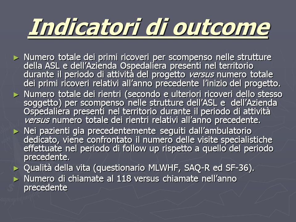 Indicatori di outcome