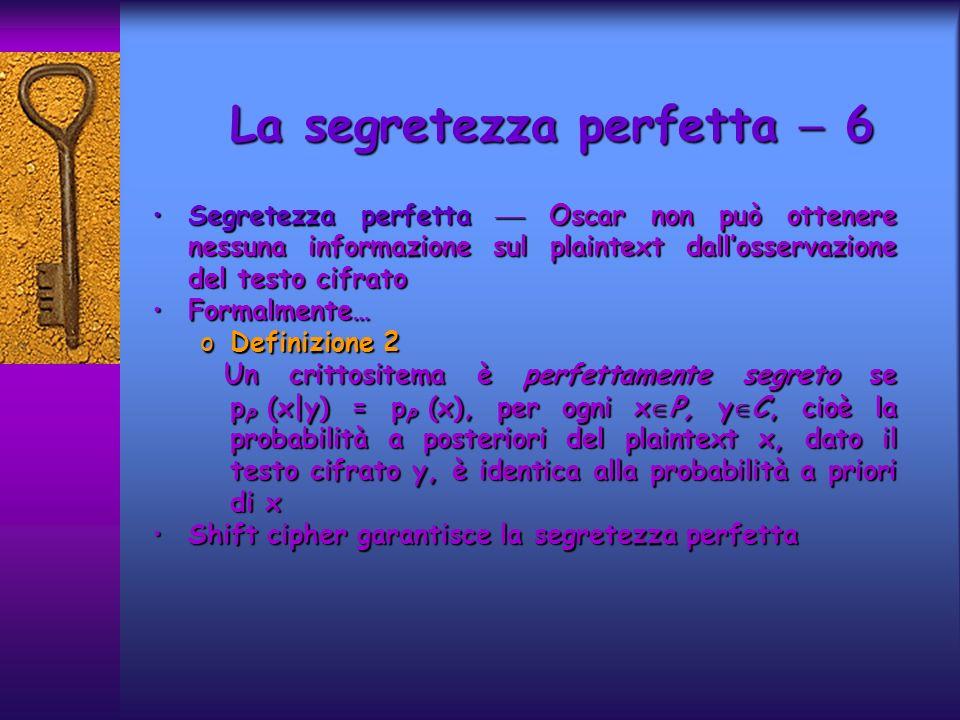 La segretezza perfetta  6