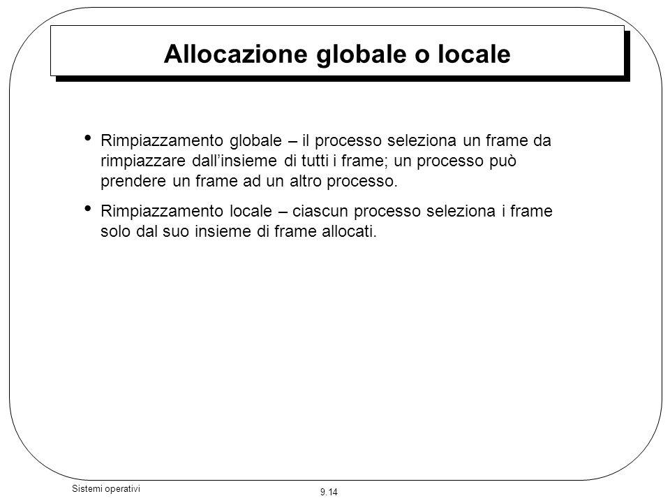 Allocazione globale o locale