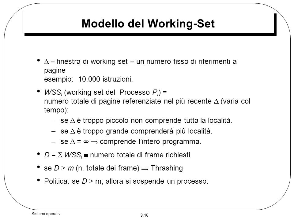 Modello del Working-Set