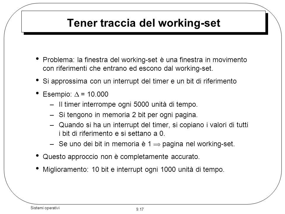 Tener traccia del working-set