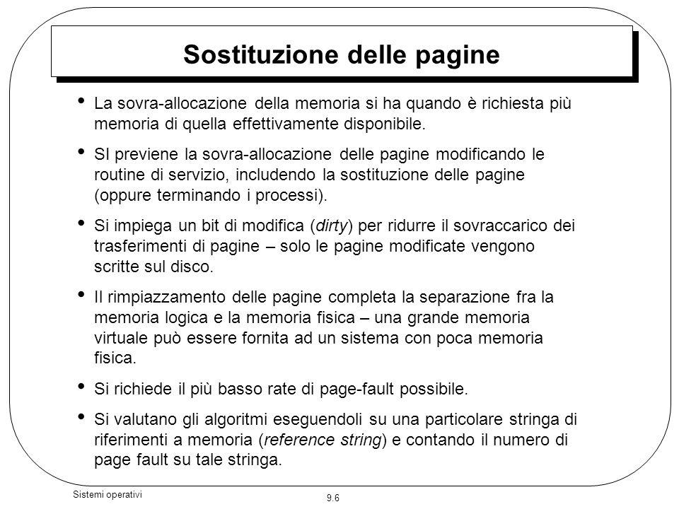 Sostituzione delle pagine