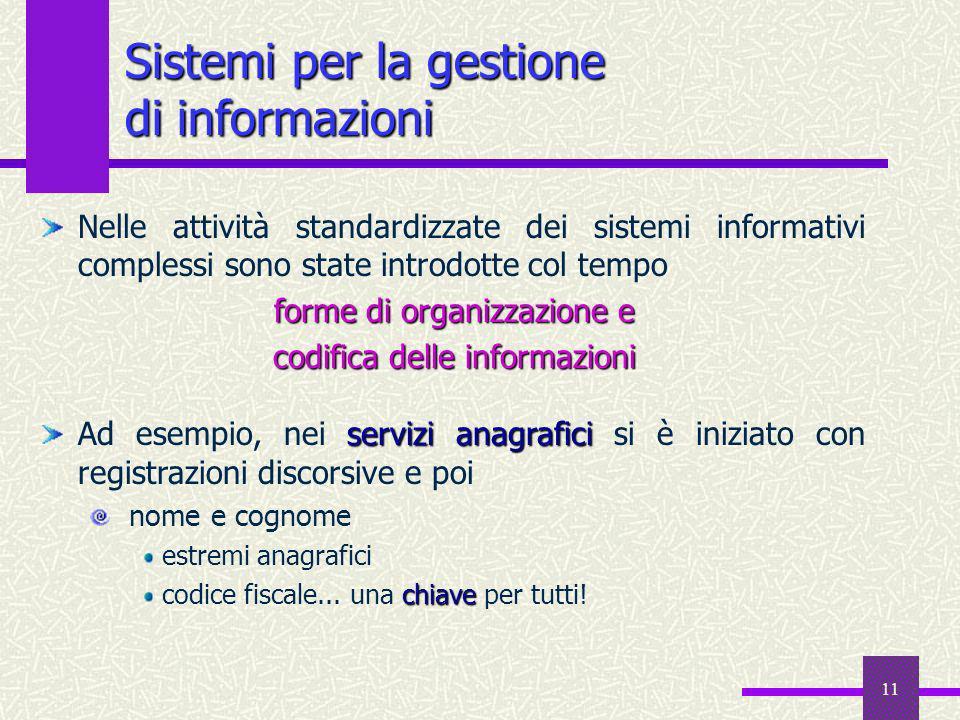 Sistemi per la gestione di informazioni