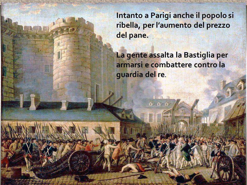 Intanto a Parigi anche il popolo si ribella, per l'aumento del prezzo del pane.