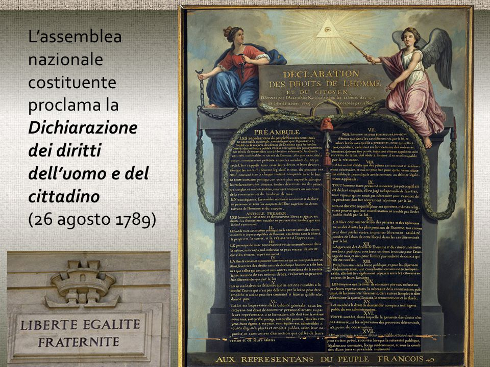 L'assemblea nazionale costituente proclama la Dichiarazione dei diritti dell'uomo e del cittadino