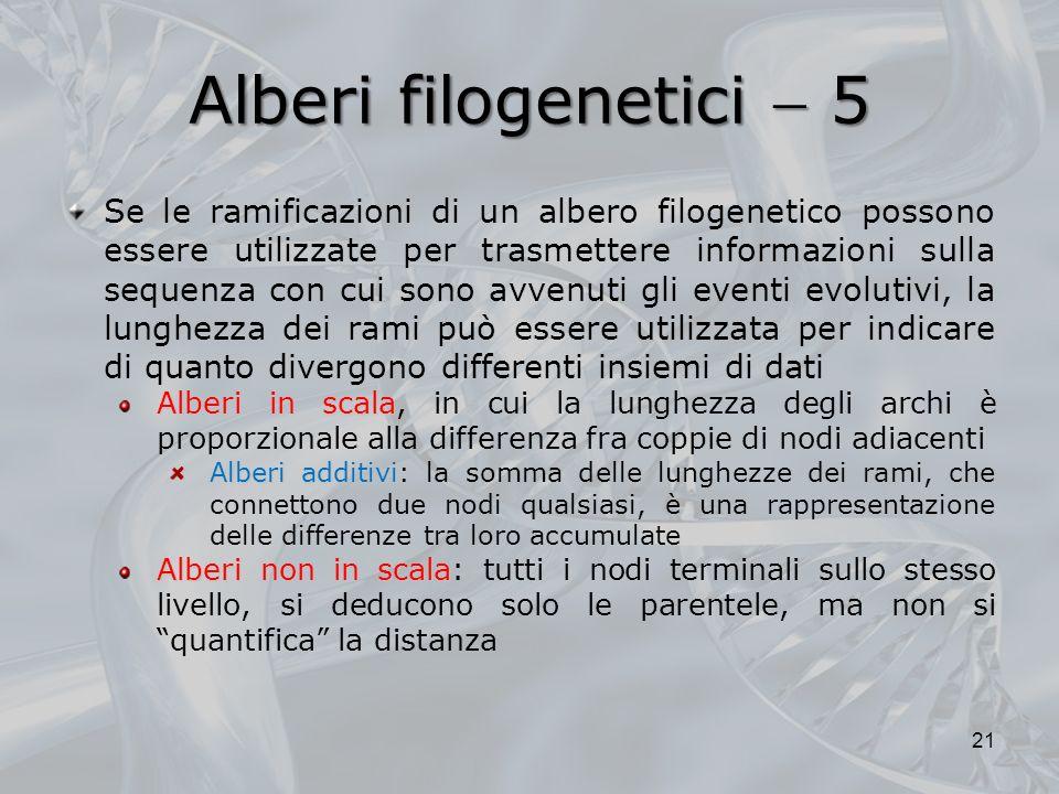 Alberi filogenetici  5