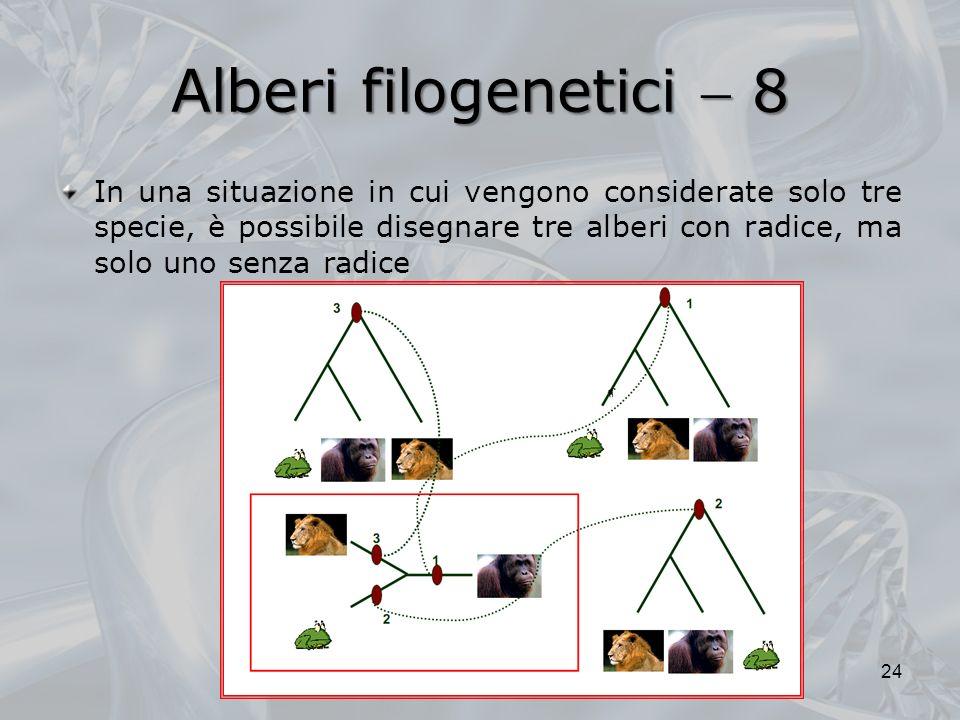 Alberi filogenetici  8