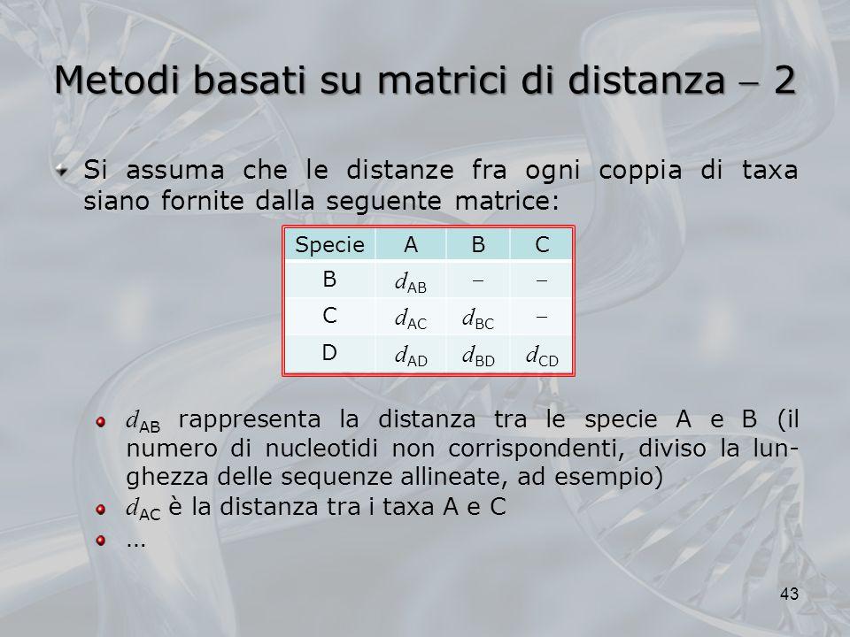 Metodi basati su matrici di distanza  2