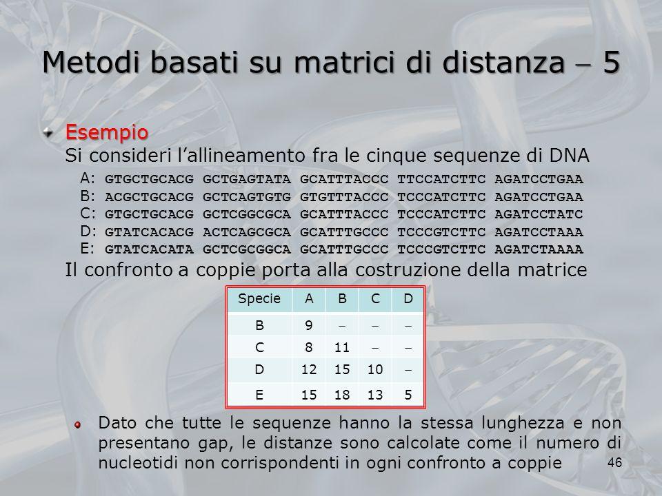 Metodi basati su matrici di distanza  5