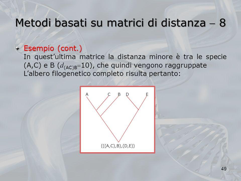 Metodi basati su matrici di distanza  8