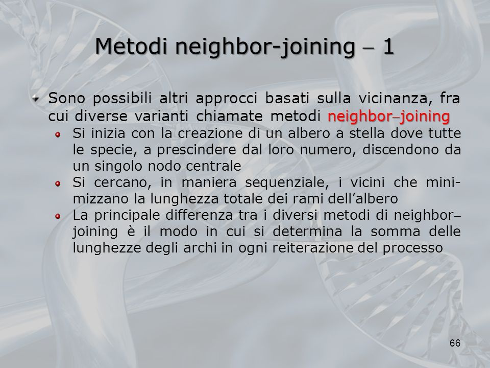 Metodi neighbor-joining  1