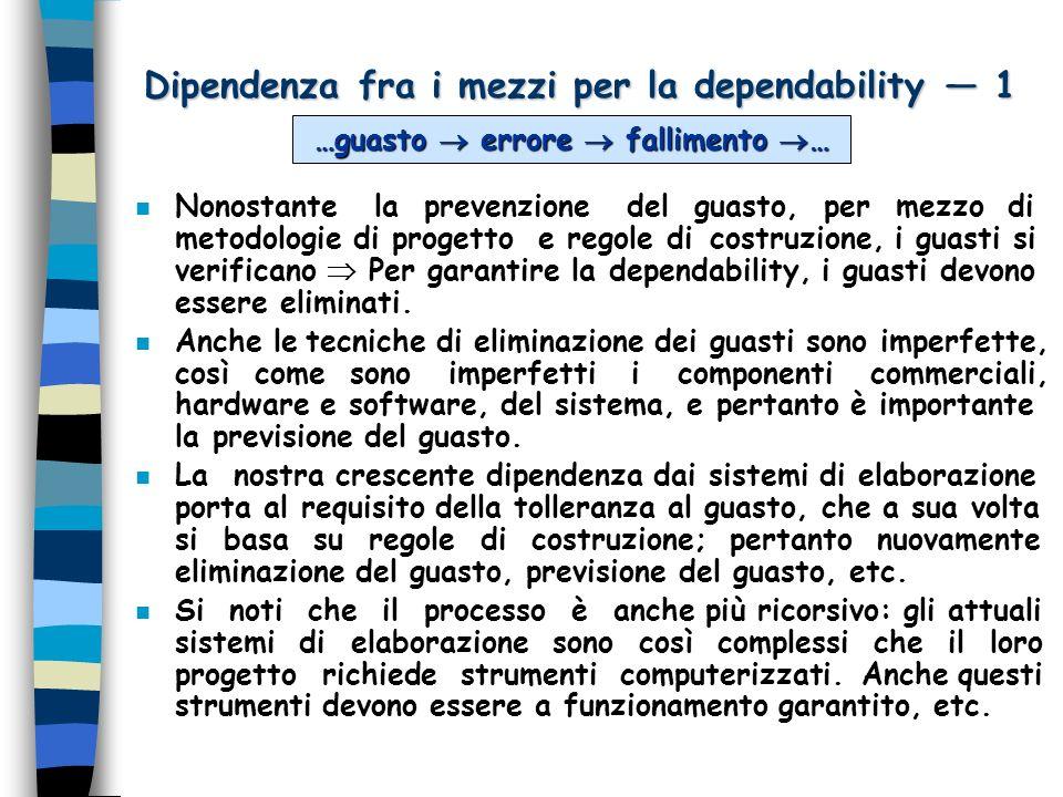 Dipendenza fra i mezzi per la dependability — 1