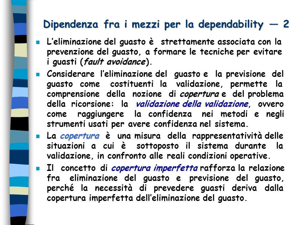 Dipendenza fra i mezzi per la dependability — 2