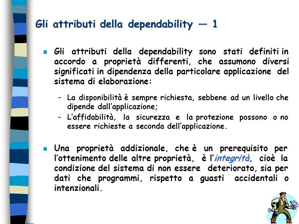 Gli attributi della dependability — 1
