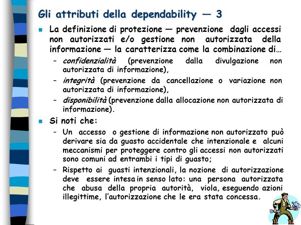 Gli attributi della dependability — 3