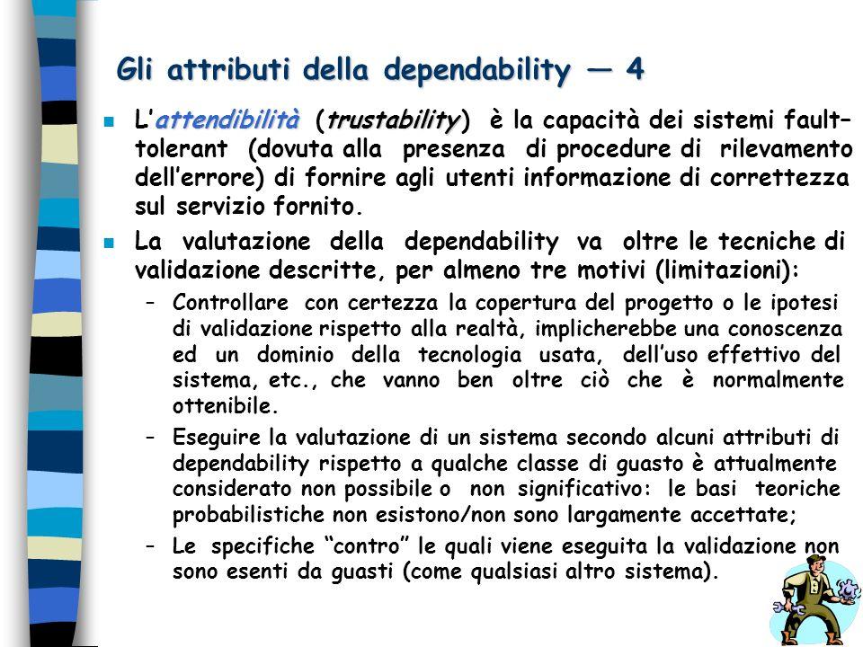 Gli attributi della dependability — 4
