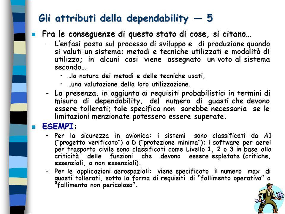Gli attributi della dependability — 5