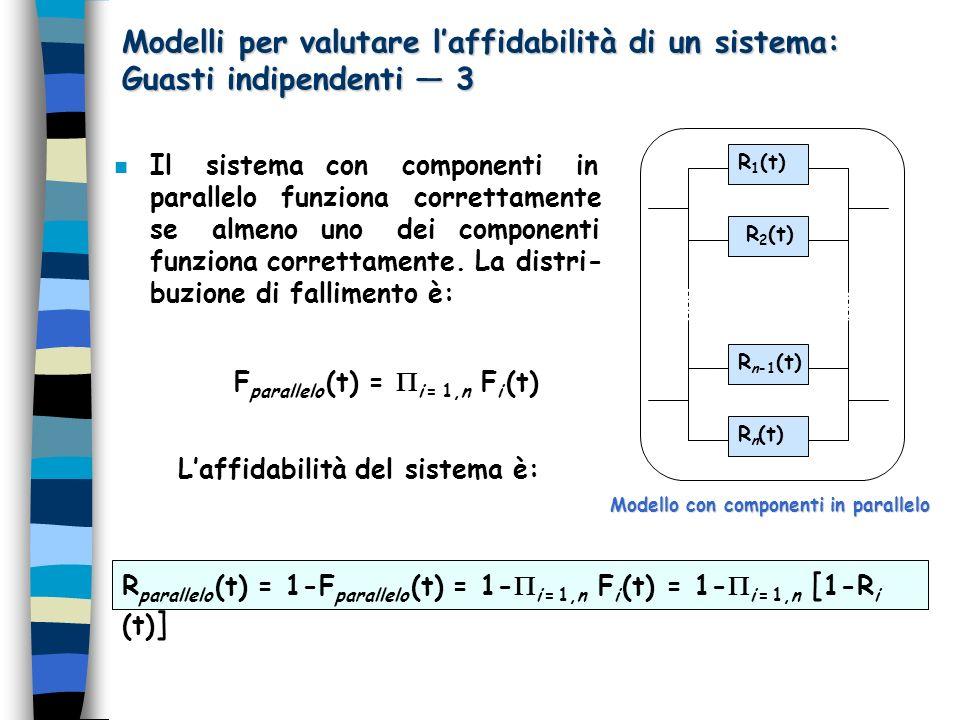 Modelli per valutare l'affidabilità di un sistema: Guasti indipendenti — 3