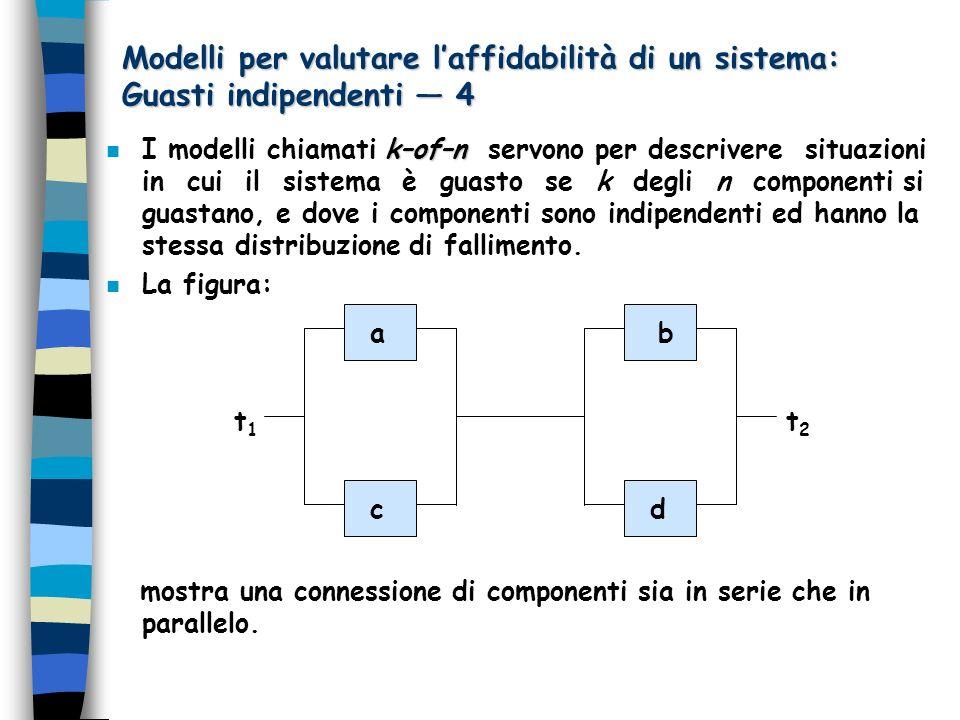 Modelli per valutare l'affidabilità di un sistema: Guasti indipendenti — 4