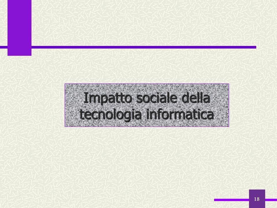Impatto sociale della tecnologia informatica