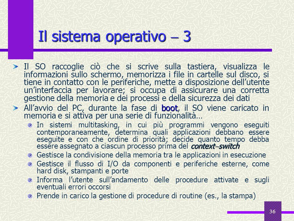 Il sistema operativo  3