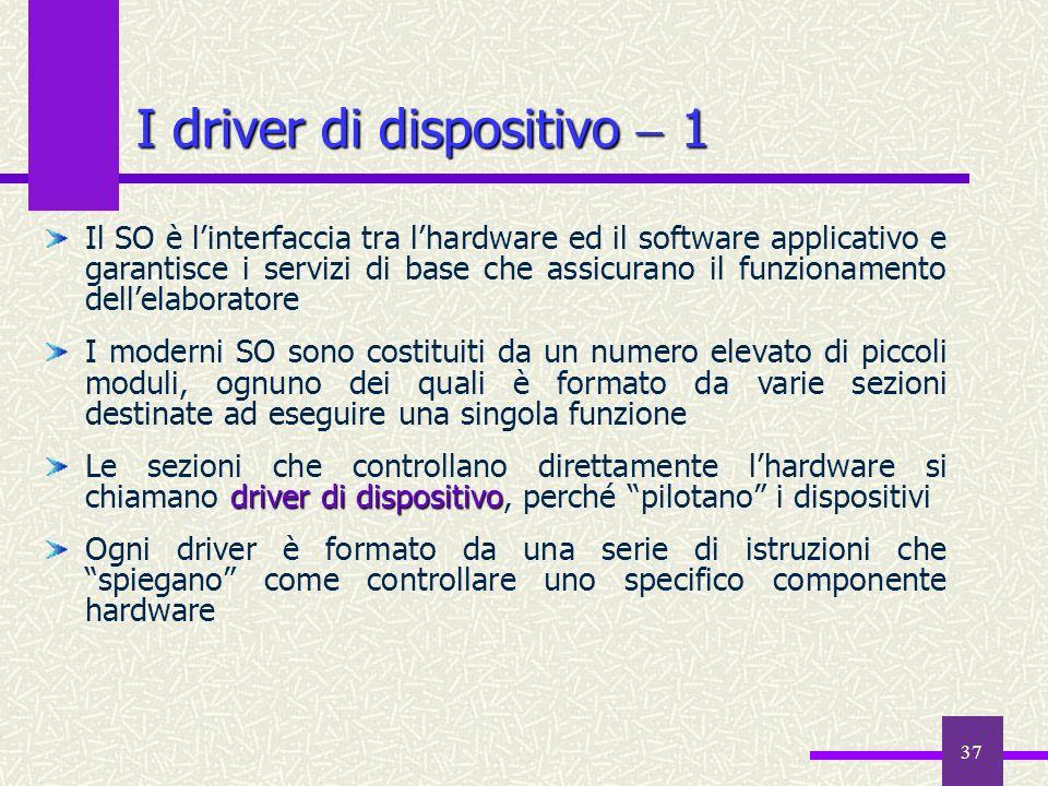 I driver di dispositivo  1