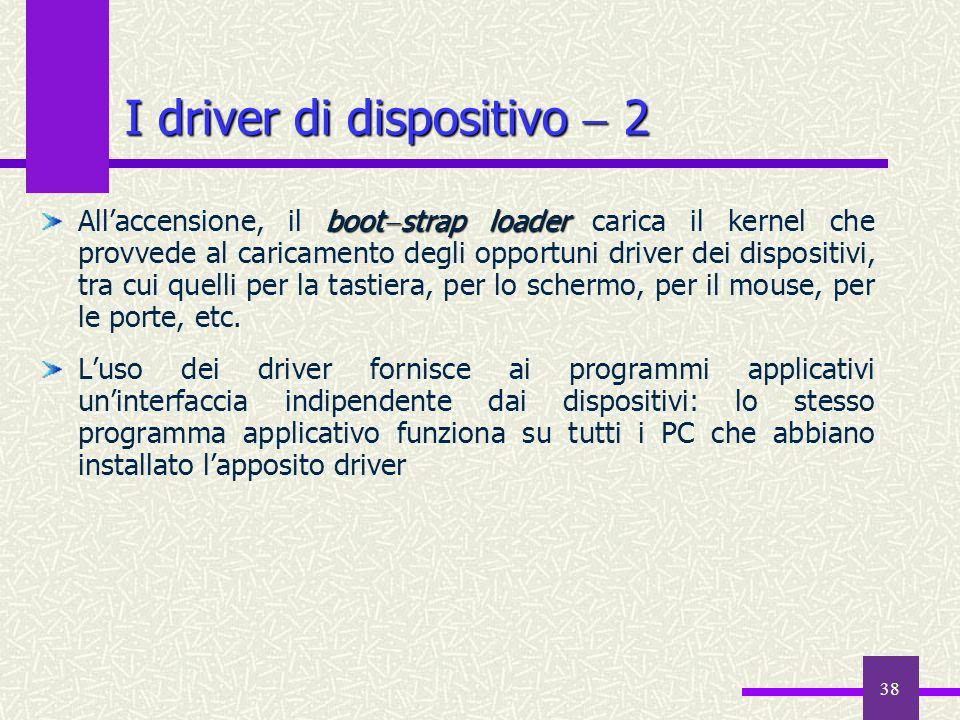 I driver di dispositivo  2