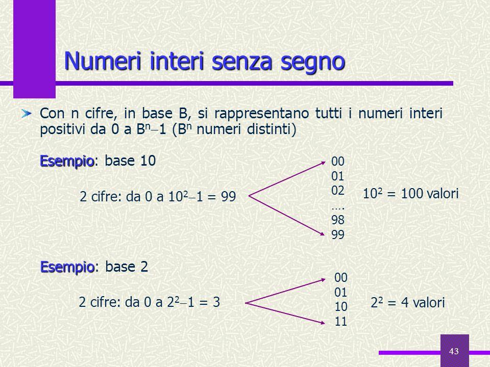 Numeri interi senza segno