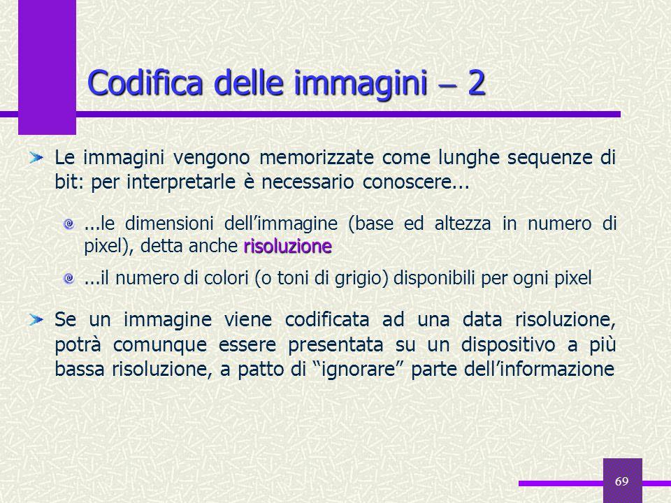 Codifica delle immagini  2