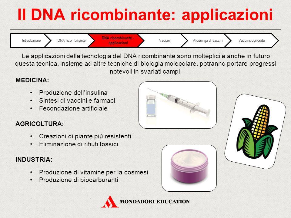 Il DNA ricombinante: applicazioni