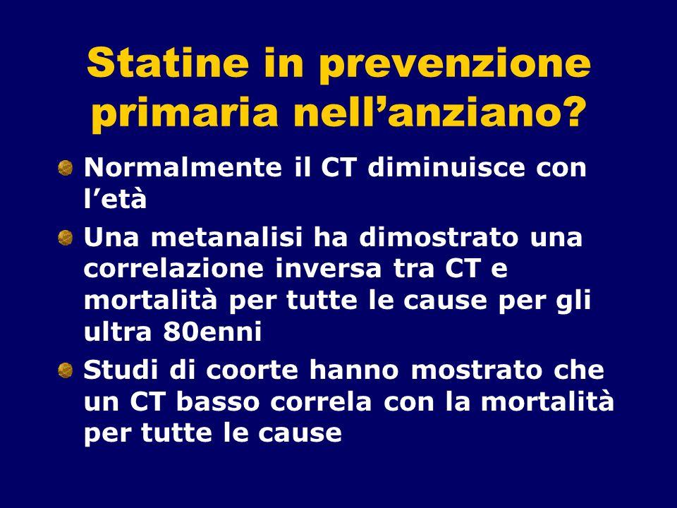 Statine in prevenzione primaria nell'anziano