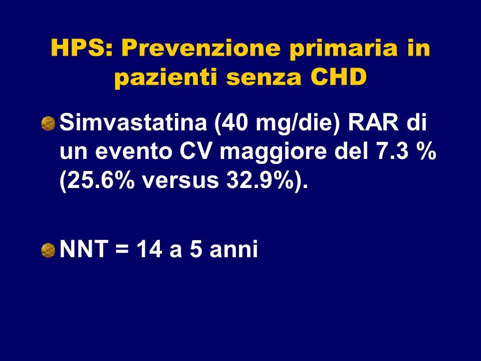HPS: Prevenzione primaria in pazienti senza CHD