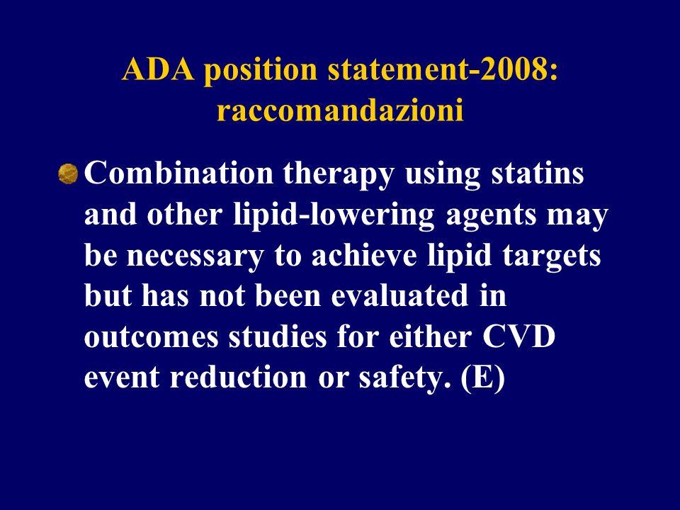 ADA position statement-2008: raccomandazioni
