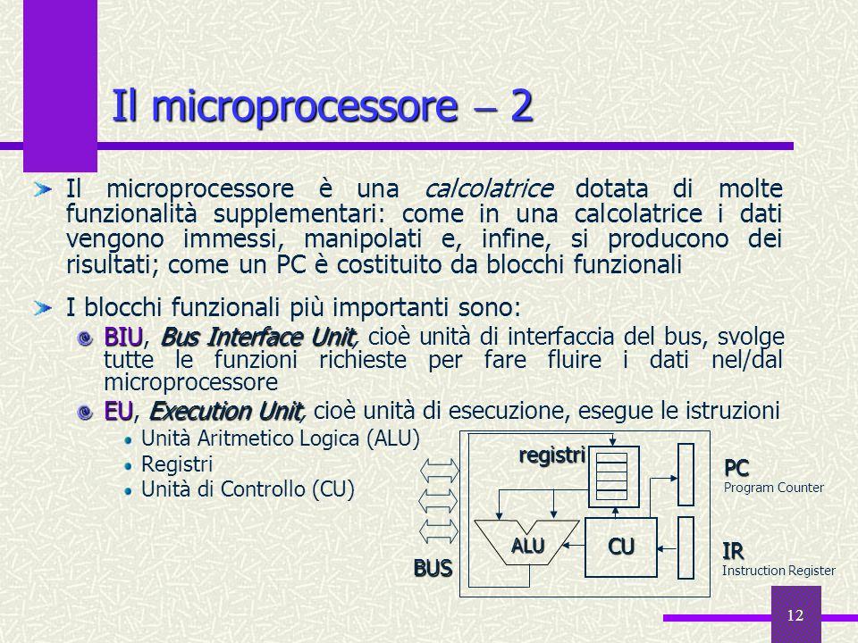 Il microprocessore  2
