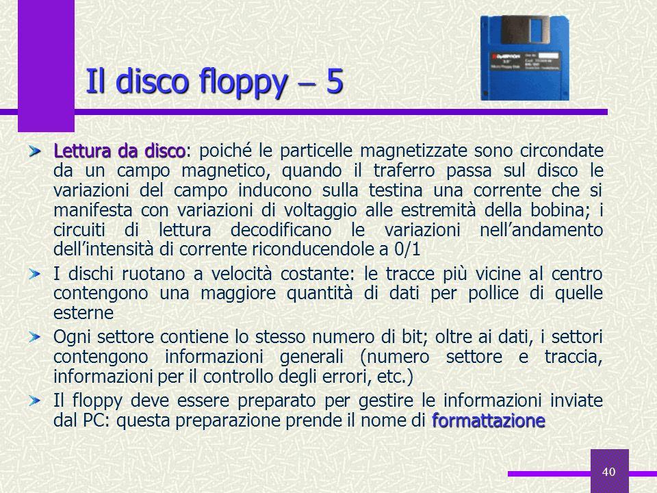 Il disco floppy  5