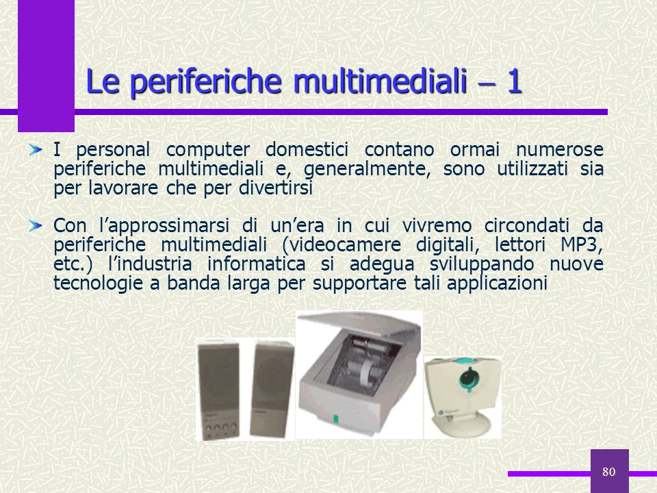 Le periferiche multimediali  1