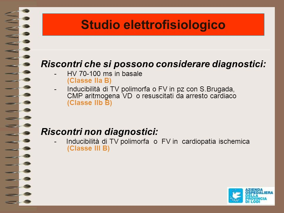 Studio elettrofisiologico