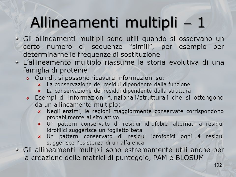 Allineamenti multipli  1
