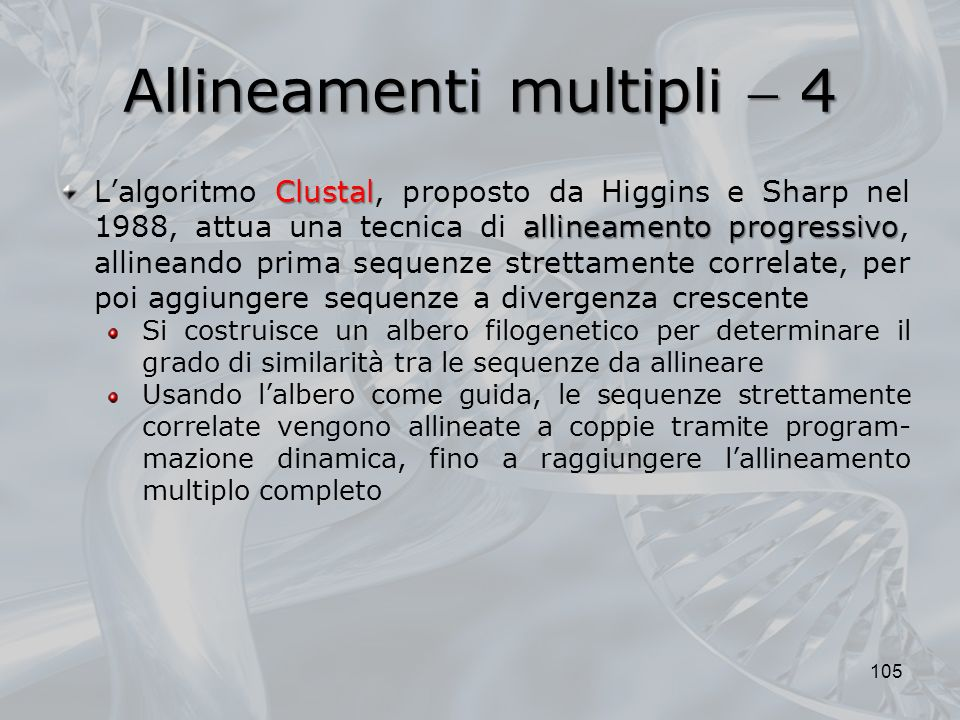 Allineamenti multipli  4