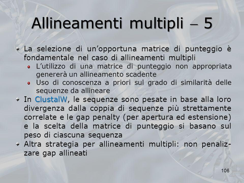 Allineamenti multipli  5