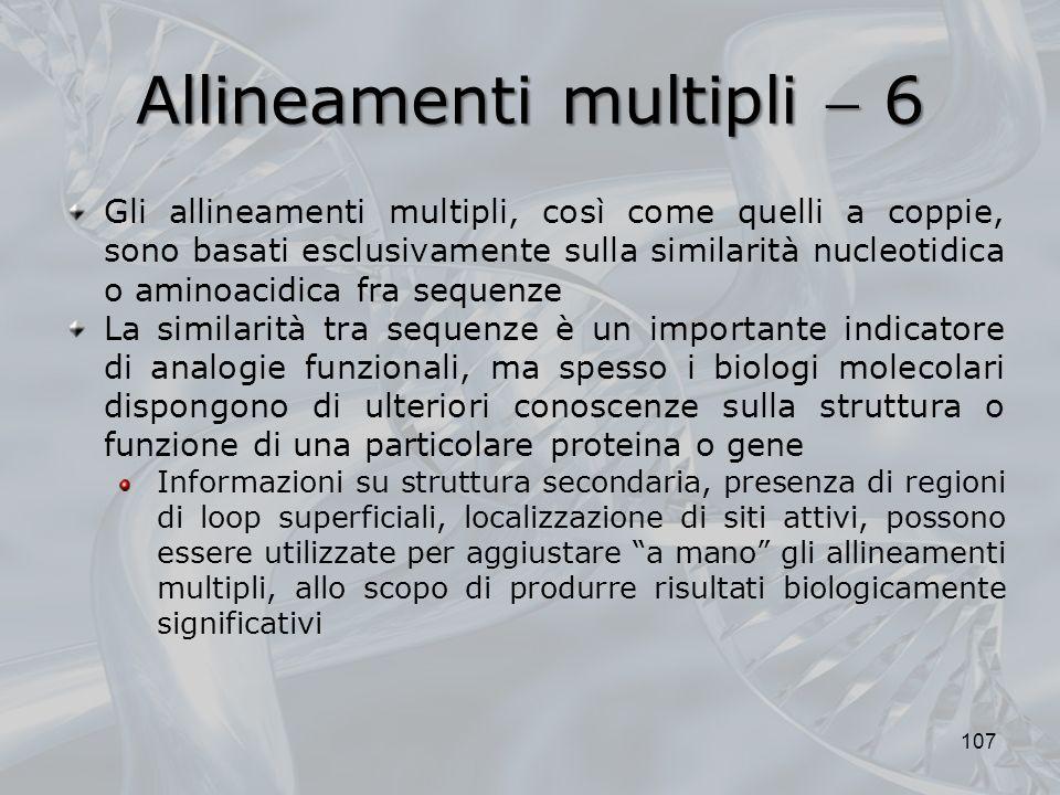 Allineamenti multipli  6