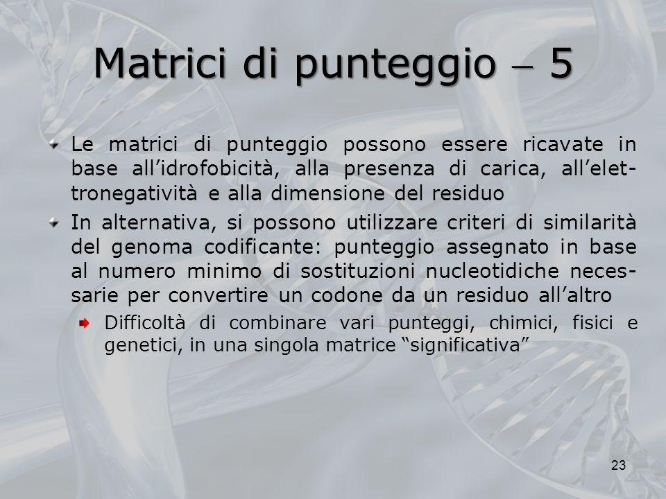 Matrici di punteggio  5