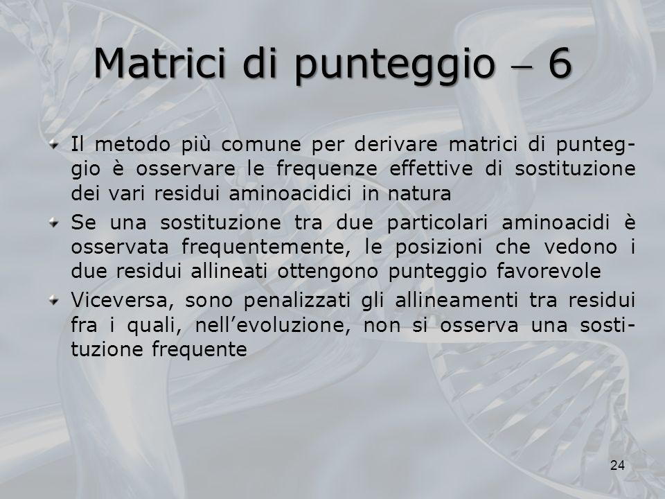 Matrici di punteggio  6