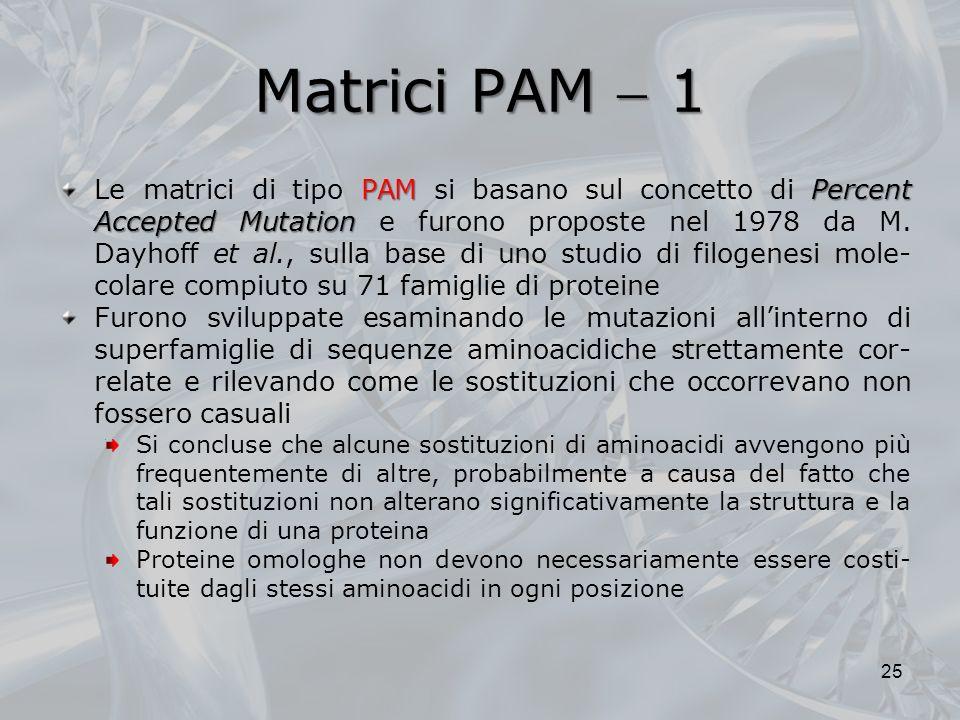 Matrici PAM  1