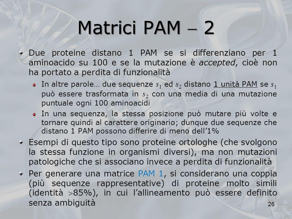 Matrici PAM  2