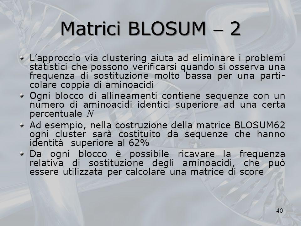 Matrici BLOSUM  2
