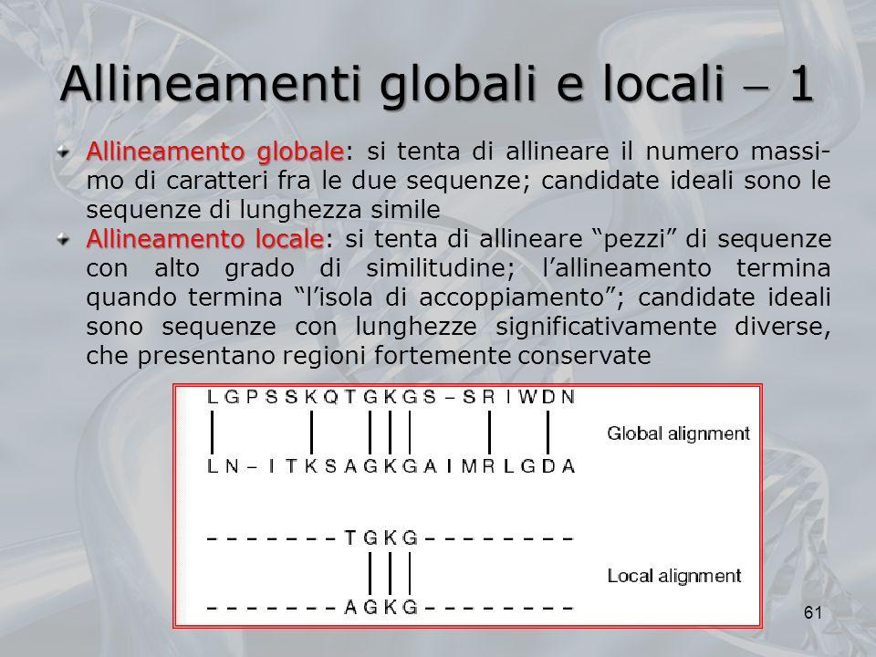 Allineamenti globali e locali  1
