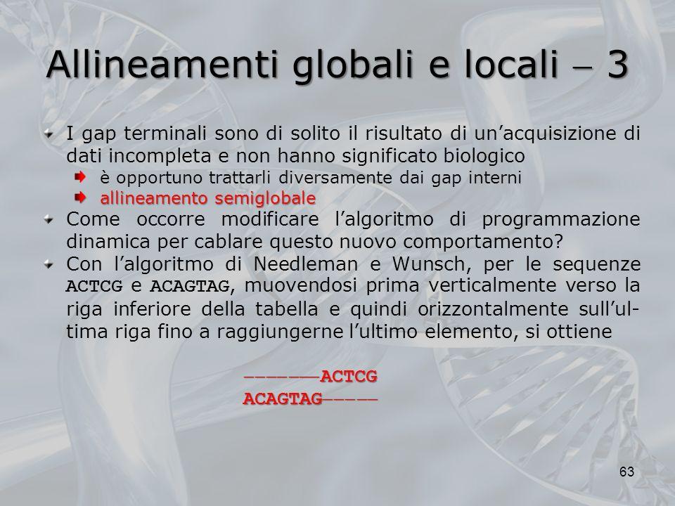 Allineamenti globali e locali  3