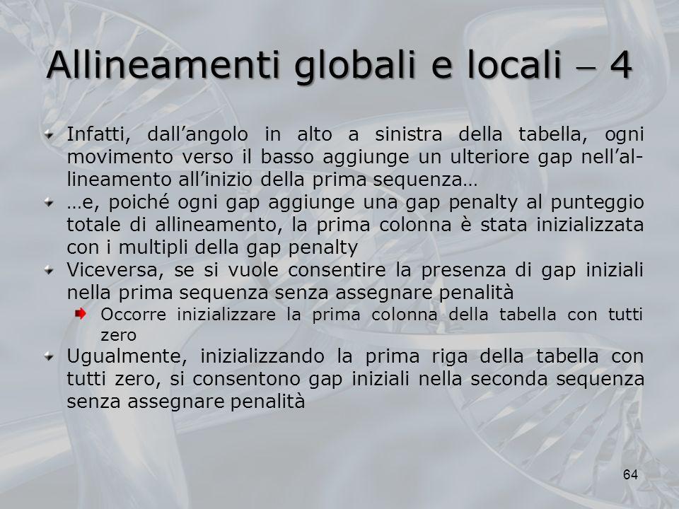 Allineamenti globali e locali  4